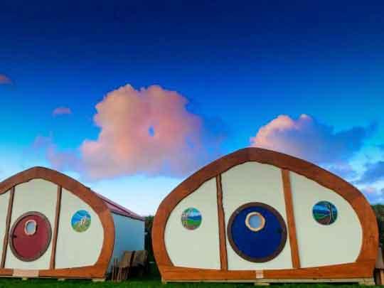 Shire huts festival accommodation