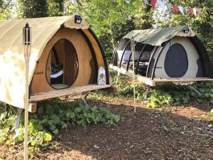 Land Pod Cosy Cocoon festival accommodation