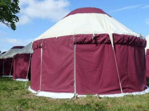 Hearthworks yurt festival accommodation