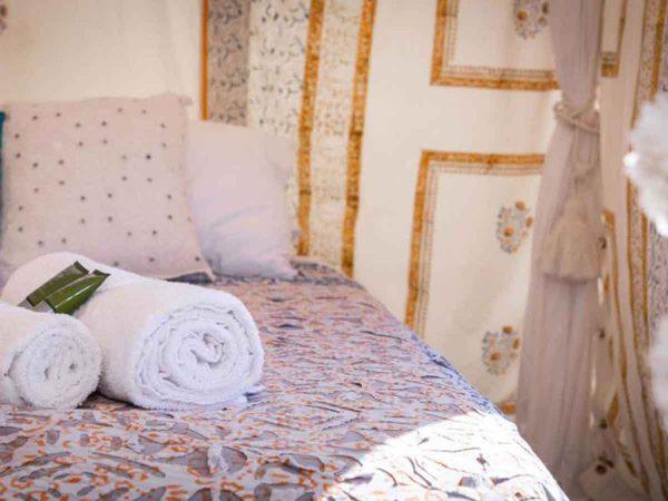 Glastonbury Festival Boutique Camping Bedi tent for 2 close shot