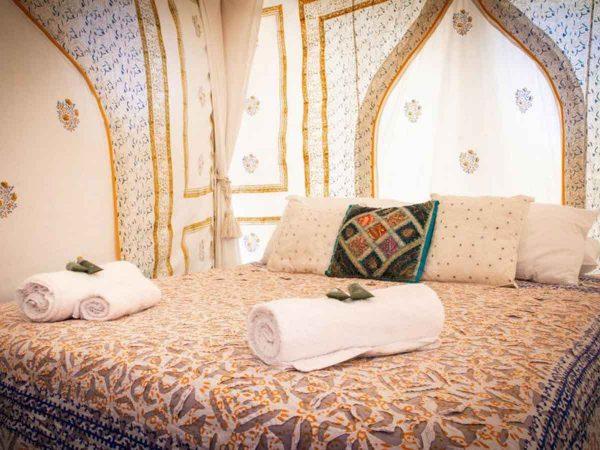 Glastonbury Festival Boutique Camping Bedi tent for 2 inside shot