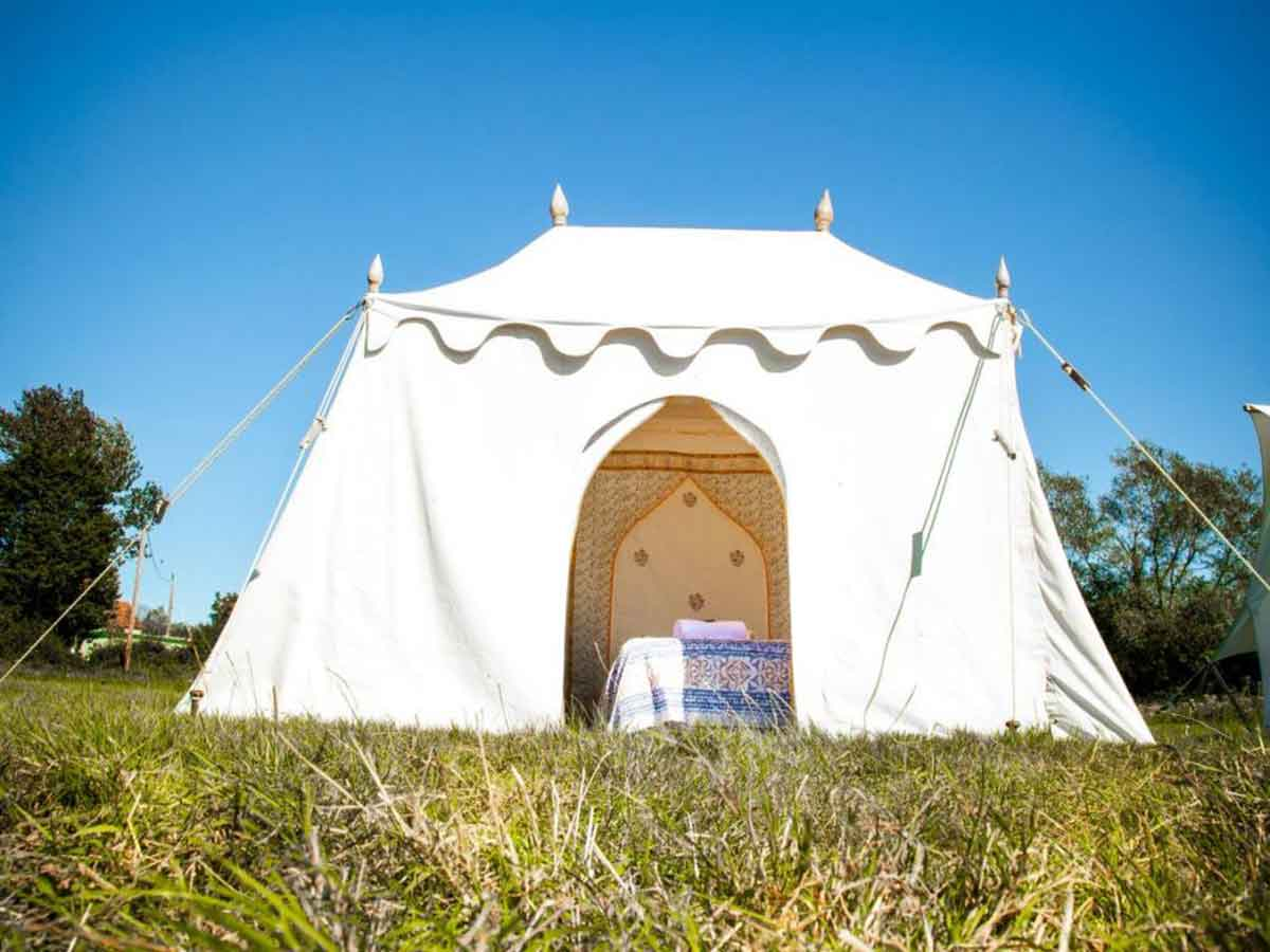 Glastonbury Festival Boutique Camping and Glamping Bedi tent for 2