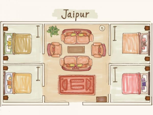 Glastonbury festival luxury boutique Jaipur for 8 floor plan