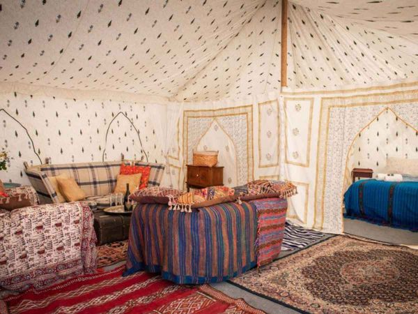 Glastonbury festival luxury boutique Jaipur for 8 living and bed view