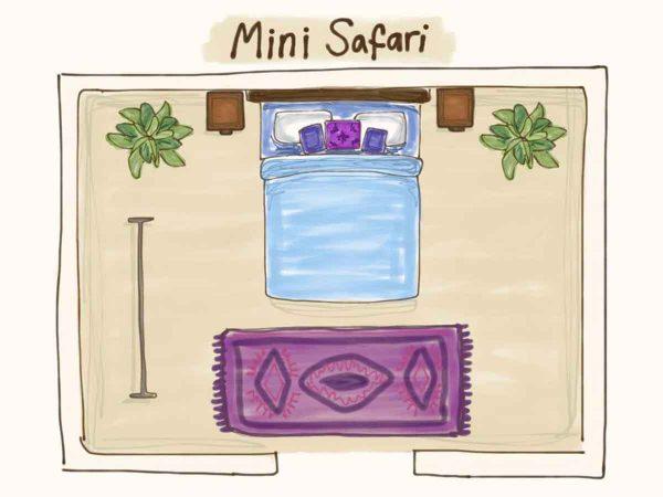 Floor plan of Mini Safari Tent for Glastonbury Festival Boutique Camping
