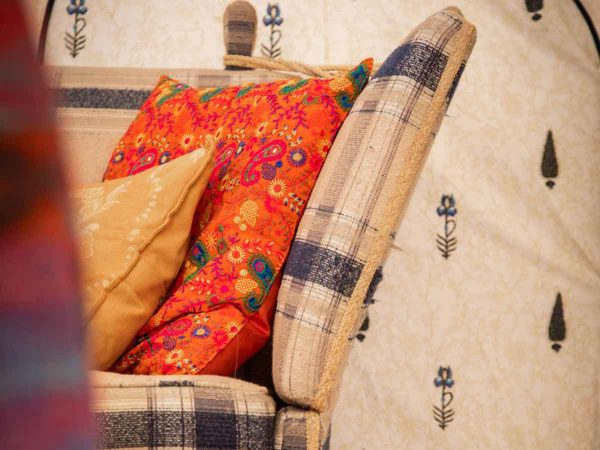 Glastonbury festival luxury boutique Jaipur for 8 close up of furnishings