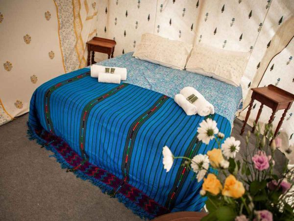 Glastonbury festival luxury boutique Jaipur for 8 bed shot