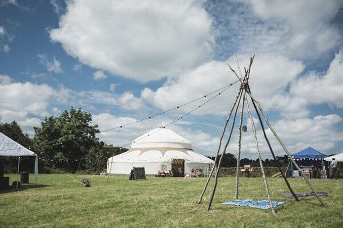 yurts for festivals and events long view