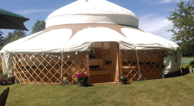 yurts for festivals and events sides up