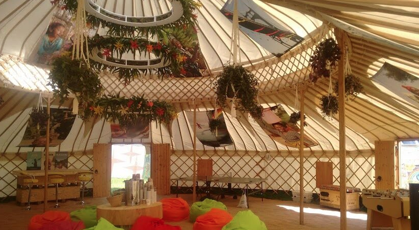 yurts for festivals and events layout