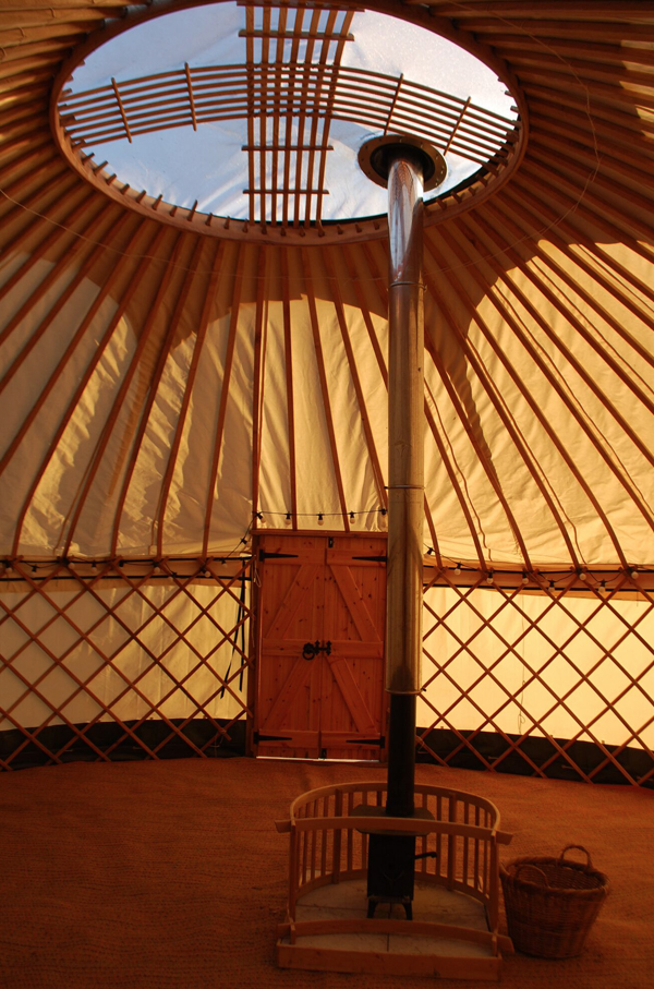 yurts for festivals and events inside