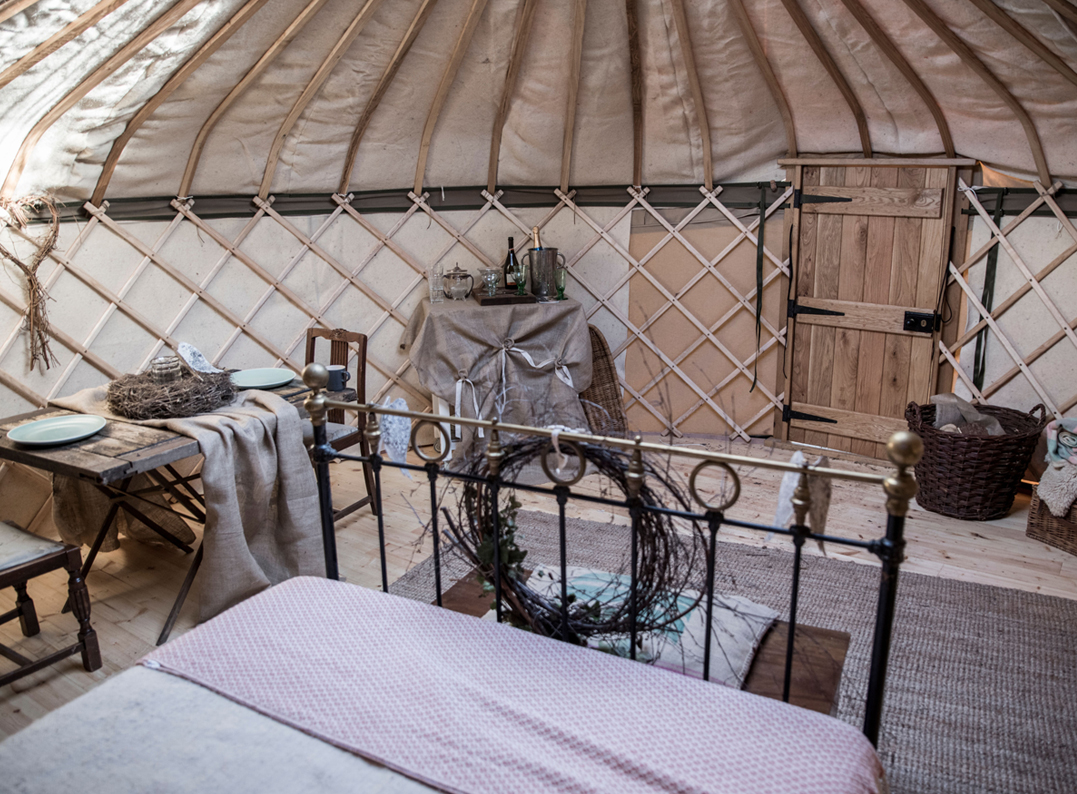 yurts for festivals and events inside view